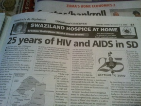 Times of Swaziland coverage of HIV/AIDS, September 2010