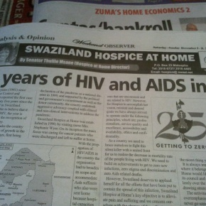 Times of Swaziland coverage of HIV/AIDS, September2010