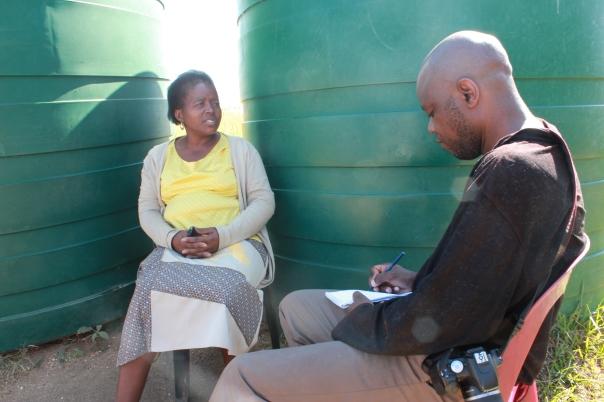 Joseph Zulu interviewing