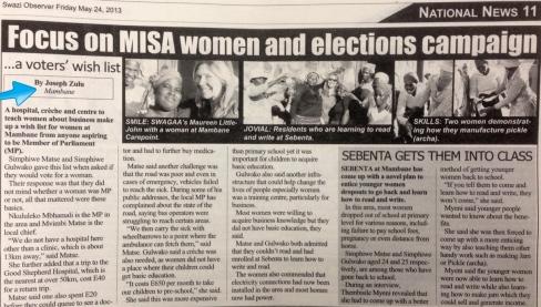 Joseph Zulu story in Swazi Observer
