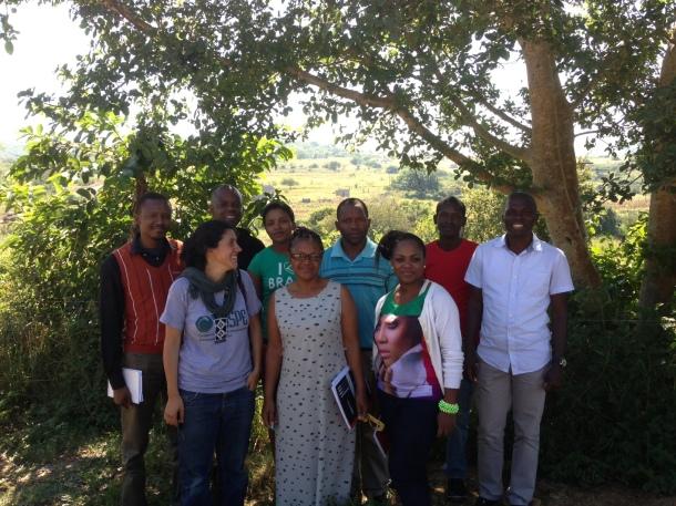 L-R. Musa Simelane (Times of Swaziland), Marta Lopez (COSPE), Joseph Zulu (Swazi Observer), Winile Masinga (Observer), Nosisa Mohammed (COSPE), Mongie Zulu (The Nation), Sibongile Sukati (Times), Patrick Myeni (student) Phakama Shili (MISA)