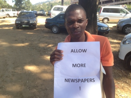 MISA-Swaziland advocacy officer Phakama Shili on World Press Freedom Day, May 3, 2012