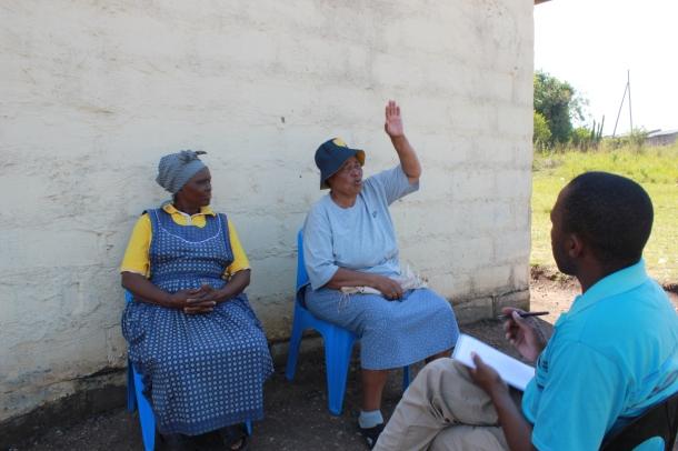 Mongie Zulu interviewing
