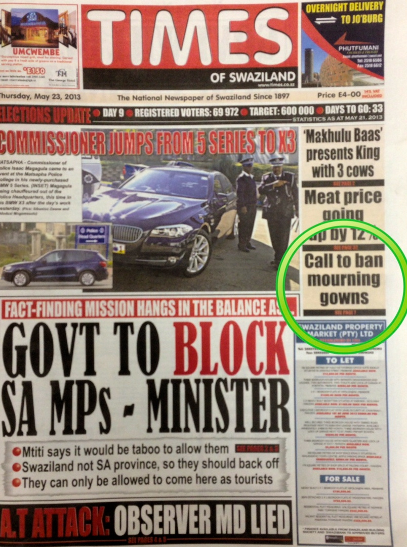 Times of swaziland newspaper