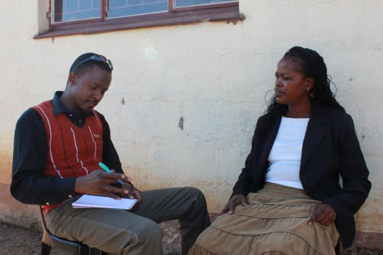 Musa Simelane interviewing