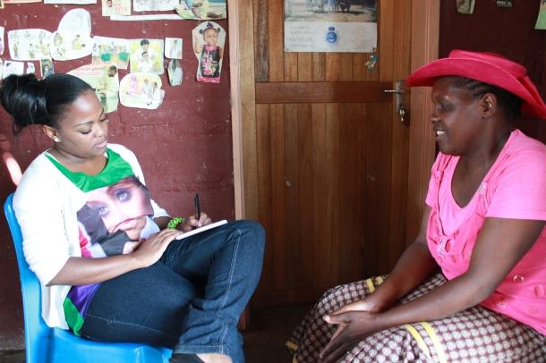 Sibongile Sukati interviewing