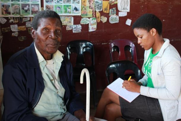 Winile Masinga interviewing (2)