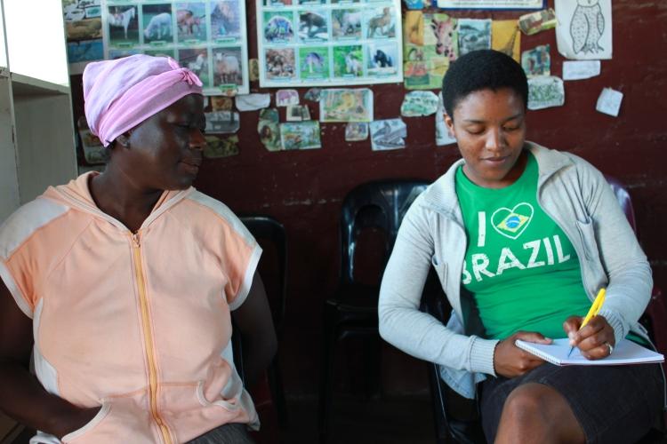Winile Masinga interviewing