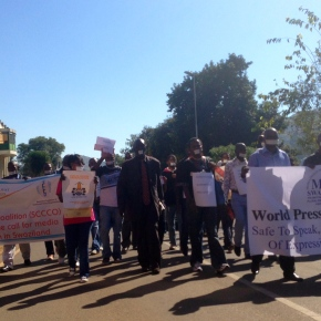 Journalists march for media freedom