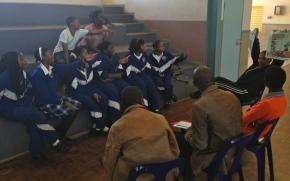 Students meet the media inSwaziland