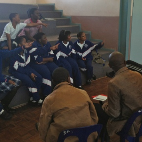Students meet the media in Swaziland