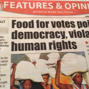 Food for votes poisons democracy