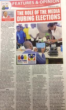 phakama shili role of media elections