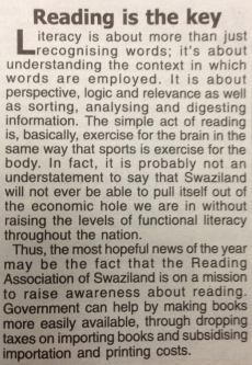 Times of Swaziland editorial, July 15 2013