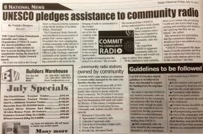 UNESCO pledges support for community radio — Swazi Observer reports