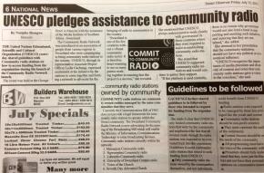 UNESCO pledges support for community radio — Swazi Observerreports