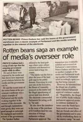 media exposes rotten beans