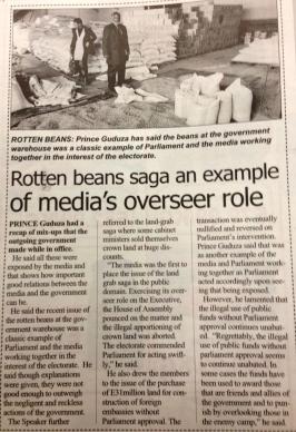 media exposes rotten beans
