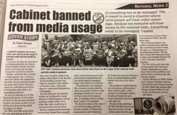 Swazi cabinet banned page 3