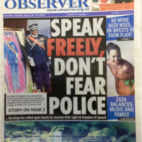 Are you free to speak and meet inSwaziland?