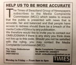 MISA encourages new newspaper to print media Ombudsman details, publisher's details innewspaper