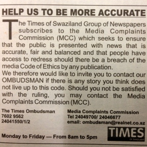 MISA encourages new newspaper to print media Ombudsman details, publisher's details in newspaper