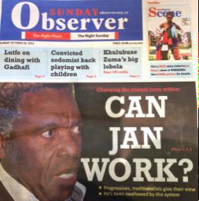 Swaziland has a new newspaper – the 'SundayObserver'