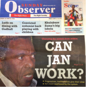 Swaziland has a new newspaper – the 'Sunday Observer'