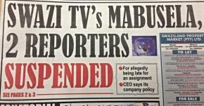 Swazi TV reporterssuspended