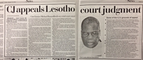 Michael Ramodibedi, from Lesotho, is Chief Justice in Swaziland as well as President of the Court of Appeal in Lesotho