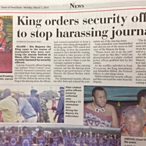 King saves journalists after scuffle breaks out