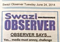 Draconian laws will never suppress a people's desire for free expression, the press is here to stay – Swazi Observer