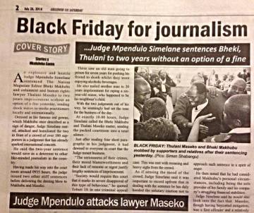 black friday for Swazi journalism