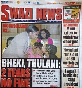 Swazi News bheki thulani